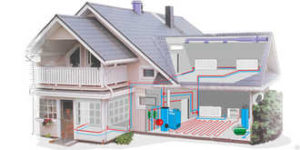 Система отопления загородных домов с жидким теплоносителем