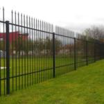 Схема установки секционного забора высотой – 1,8 метра