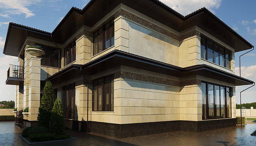 как облагородить фасад дома