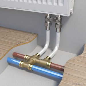 Трубы разводят к радиаторам различными способами