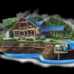 Ввод водопровода в колодец
